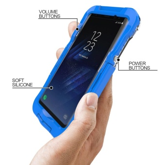 10M Underwater Waterproof Soft Silicone + Plastic Phone Case forSamsung Galaxy S8 Plus G955 - Blue - intl - 3