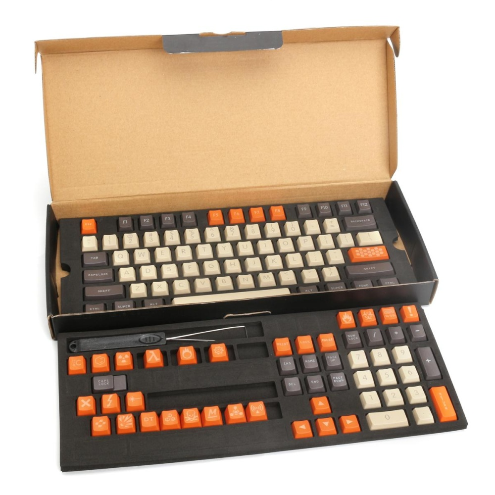 ... 119 Keys Keycap + Puller 1.5mm Thick PBT Carbon Colored for Mechanical Keyboard - intl ...