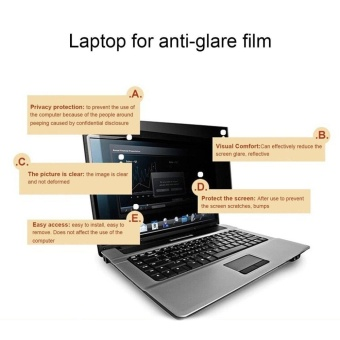 12 inch Privacy Filter Anti-spy Screens Protective Film For 16:9 Laptop black - intl - 4