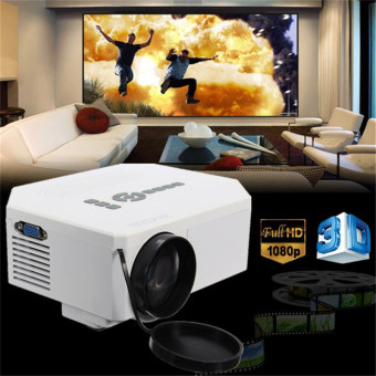 1200lumens HD 1080P Home Cinema 3D HDMI USB Video Game LED LCD MiniProjector (White) - Intl Price Philippines