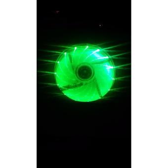 120mm cpu case fan green fan blades 15 led green buy 1 take 1 - 2