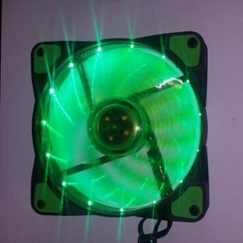 120mm cpu case fan green fan blades 15 led green buy 1 take 1 - 4