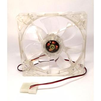 120mm cpu case fan transparent with 4 led rainbow color(green blue orange red)