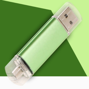 128GB OTG External Storage Usb Memory Stick U Disk Pen DrivePendrive Usb Flash Drive for Android Smart Phone (Green) - intl