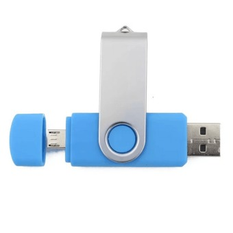 128GB OTG Flash Drive Memory Stick U Disk for Android PC (Lightblue)