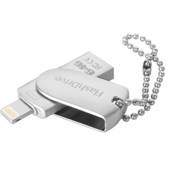 128GB OTG USB Flash Drive U Disk Memory stick for iPhone PC Smartphone (Silver)