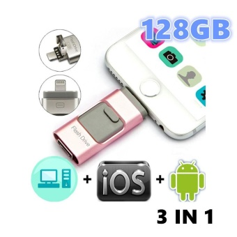 128GB Pen Drive for Apple Iphone 6s Andorid + OTG Pendrive U Disk 3 in 1 Memory Stick USB 2.0