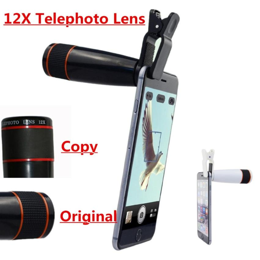 12X Telephoto Lens Mobile Phone Optical Zoom Telescope Camera For iphone/Smartphone(Black) - intl