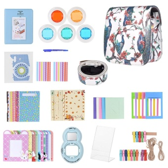 13 in 1 Accessories Kit for Fujifilm Instax Mini 8/8+/8s/9 IncludeCamera Case/Strap/Sticker/Selfie Lens/Colored Filter/Album/PhotoFrame/Border Sticker/ Corner Sticker/Pen - intl - 2