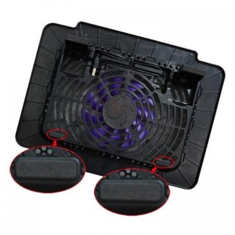 14 inch 15.6 wire USB PC cooler exhaust fan cooled radiator (Black) - 3