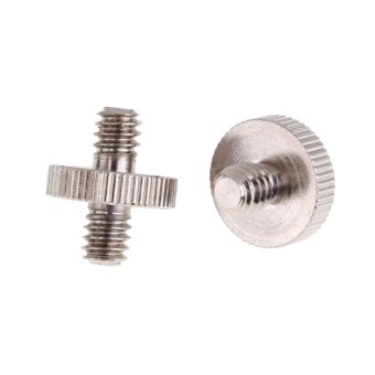 1/4 Male To 1/4 Male Threaded Metal Screw Adapter for TripodMonopod - Intl