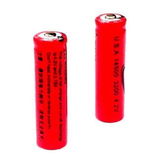 14500 3.7V Li-Ion Rechargeable Lithium Battery Set of 2 #0225