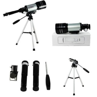 15x-150x High-Powered Magnification HD Telescope Monocular HeightAdjustment Tripod Space Astronomical Telescope Spyglass - intl