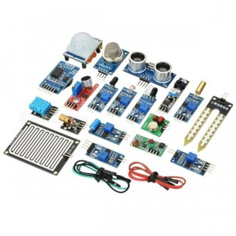16-In-1 Sensor Module Kit for Raspberry Pi 3B / 2B / B+ - Blue -intl Price Philippines