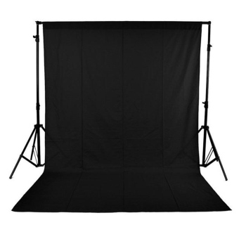 1.6 x 3M / 5 x 10FT Photography Studio Non-woven Backdrop /Background Screen 3 Colors Black