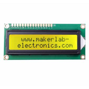 16x2 LCD Display Black on Green