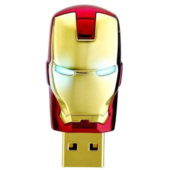 16GB Iron Man USB 2.0 Flash Memory Drive Stick Pen Thumb UDisk(Gold)