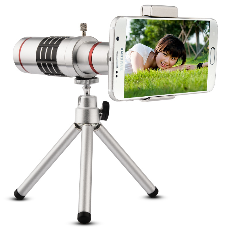 18x Mobile Phone Lens Universal 18X Zoom Telescope Camera Telephoto Lens for iPhone, Android
