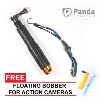 "19"" Adjustable Handheld Extension POV Pole for GoPro (Gold) with Free Floating Handle Mount Bobber"