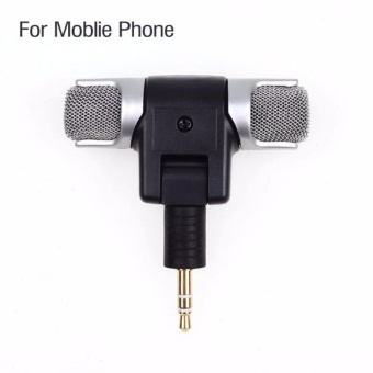 1pc 3.5mm Mini Microphone Stereo Mic For Recording Mobile Phone Studio For Laptop Microphone - intl