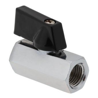 1pc G1/4 Thread Ball Valve Water Block Valve for PC Water CoolingSystem (Silver) - intl