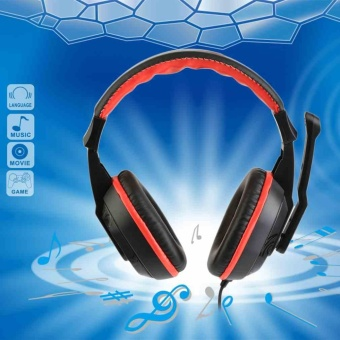 1pc New 3.5mm Gaming Stereo Headset AUX with Noise Cancelling Microphone New - intl