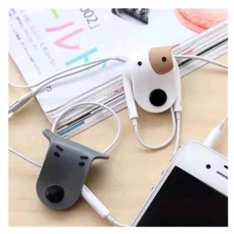 1pc Random Design Doggie Earphone Cable Wire Winder HolderOrganizer
