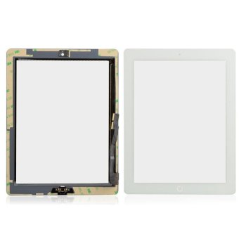 1X Touch Screen Digitizer + Bezel Frame Assembly + Home Button foriPad 3 - intl