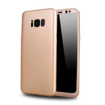 2 in 1 360 Degree Full Body Protective Phone Case Front PC Soft TPUSilicone Full Back Cover For Samsung Galaxy S8 5.8 Inch - intl