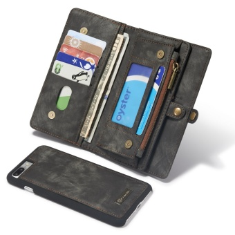 2 in 1 Multi-functional Flip Genuine Leather Wallet Mobile Phone Case with Card Slots for Apple iPhone 7 Plus - intl - 2