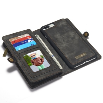 2 in 1 Multi-functional Flip Genuine Leather Wallet Mobile Phone Case with Card Slots for Apple iPhone 7 Plus - intl - 3