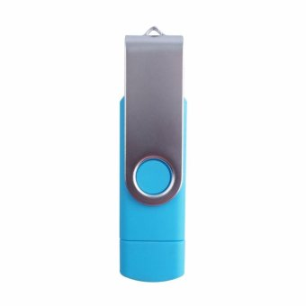 2 IN 1 OTG Pen Drive For Mobile Phone 1TB Memory Stick AndroidSmartphone Usb 2.0 U Disk USB Flash Drive Pendrive_Blue - intl