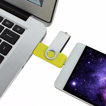 2 IN 1 OTG Pen Drive For Mobile Phone 32GB Memory Stick AndroidSmartphone Usb 2.0 U Disk USB Flash Drive Pendrive_Yellow - intl - 4