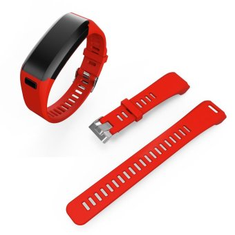 2-Part Silicone Watch Strap for Garmin Vivosmart HR with Tool - Red- intl