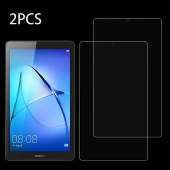 2 PCS HUAWEI MediaPad T3 7.0 Inch 0.3mm 9H Surface Hardness FullScreen Tempered Glass Screen Protector - intl