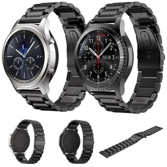 2 pcs Stainless Steel Metal Replacement Smart Watch Strap Bracelet for Samsung Gear S3 Frontier /