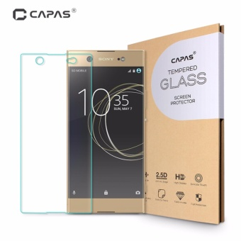 2 Pieces Capas Ultra clear Tempered Glass Explosion Proof Film For Sony Xperia XA1 Ultra - intl