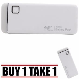 20000mah Universal Smooth Touch USB Power Bank with FlashLight(White) Buy 1 Take 1