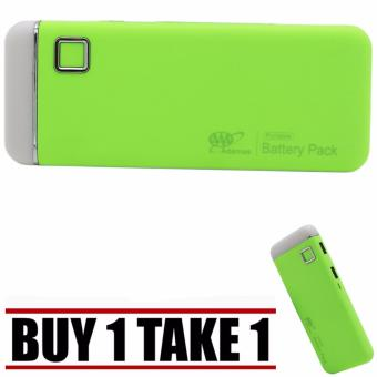 20000mah Universal Smooth Touch USB Power Bank with FlashLight(Yellow Green) Buy 1 Take 1