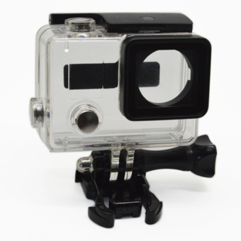 2017 Go Pro Accessories Waterproof Housing for Gopro Hero 3+ 4Camera Mount Case + Active Base + Long Screw - intl