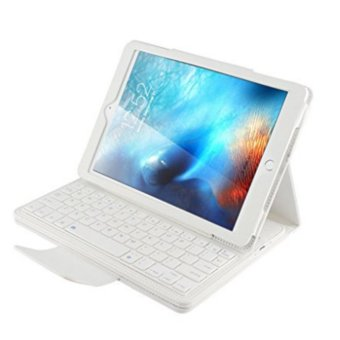 2017 NEW Detachable Wireless Bluetooth Smart ABS Keyboard withMagnetic Muti-angle Folio PU Leather Case Cover for Apple iPad mini1/2/3/4 - intl