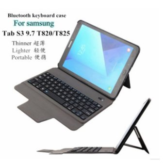 2017 new ultra-thin lightweight Bluetooth keyboard case for SamsungTab S3 9.7 T820/T825(Only 0.4 cm) - intl