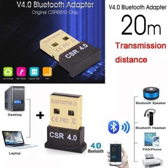 2018 Wireless USB Bluetooth Adapter V4.0 Bluetooth Dongle Music Sound Receiver Adapter Bluetooth Transmitter For Computer PC Laptop - intl