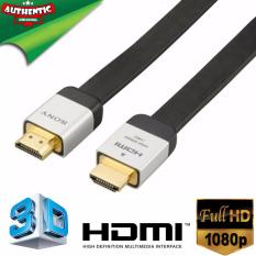 sony tv accessories. 2.0m sony gold plated premium high speed hdmi v1.4 slim flat fullhd 1080p cable (black) sony tv accessories