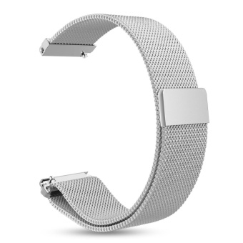 20mm Milanese Loop Stainless Steel Bracelet Band Strap MagneticClasp For Pebble Time Round - intl