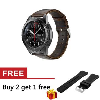 22mm Genuine Leather Strap for S3 Frontier/ Classic SM-R760 andMoto 360 2nd Gen 46mm Watch - intl