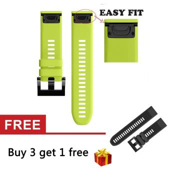 22mm Quick Install Easyfit Soft Silicone Band Strap with Tools for Fenix 5 / Forerunner 935 GPS Watch - intl