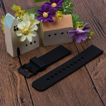 22mm Sports Silicone Watch Strap for Samsung Galaxy Gear S3 Classic(Black) - intl - 2