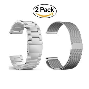 22mm Stainless Steel Band +Stainless Steel Magnet Milanese loopWoven Watch Band Mesh Strap Wristbands for Samsung Gear S3 ClassicGear S3 Frontier Smartwatch - intl