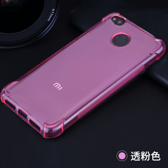 22nd CENTURY Crushproof Silica Gel Transparent Phone Case for Redmi 4X